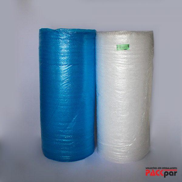 Plástico Bolha Transparente e Azul - Packpar | Soluções em Embalagens